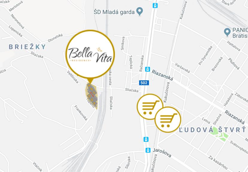 Bella Vita Residence mapa
